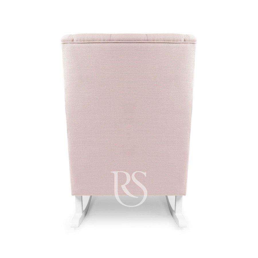 schommelstoel Bliss Rocker - Blush Pink / White-4
