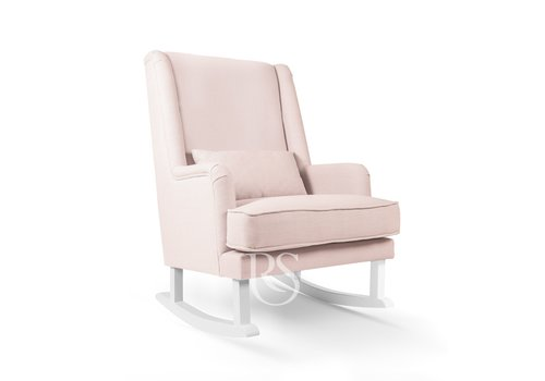 Rocking Seats schommelstoel Bliss Rocker - Blush Pink / White