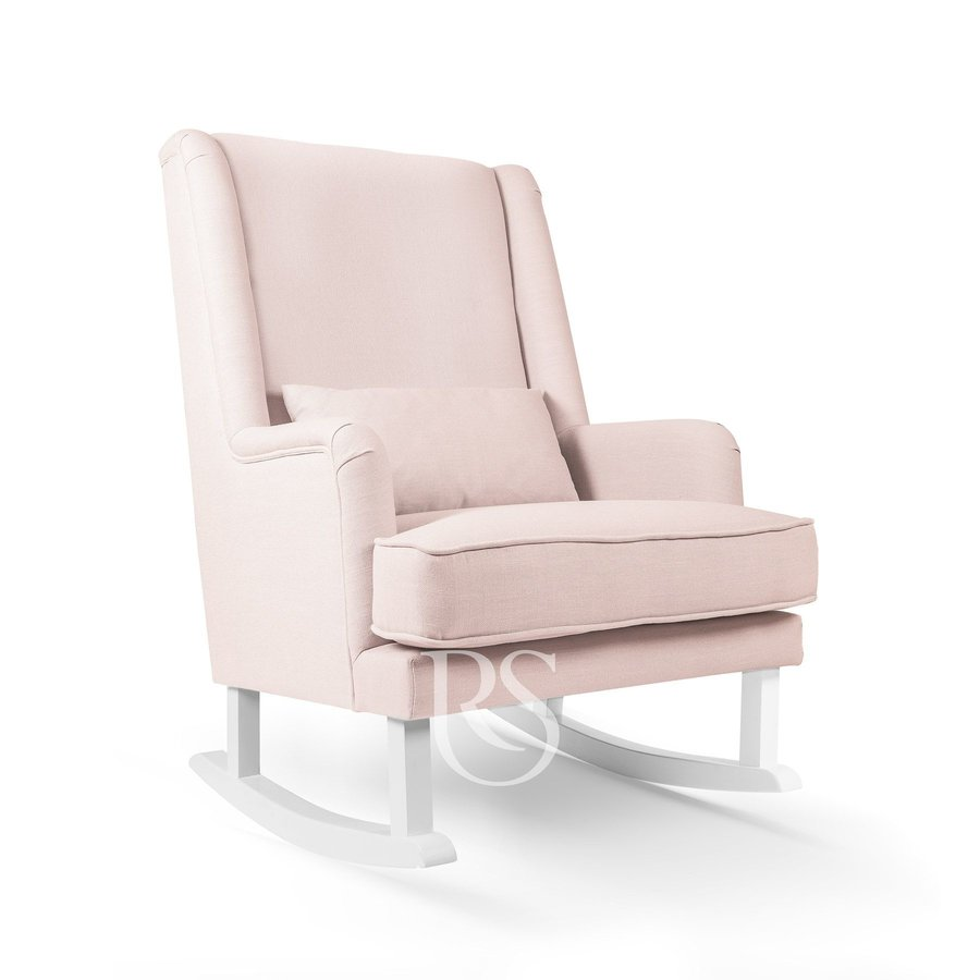 schommelstoel Bliss Rocker - Blush Pink / White-1