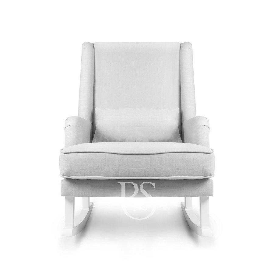 schommelstoel Bliss Rocker - Silver Grey / White-2