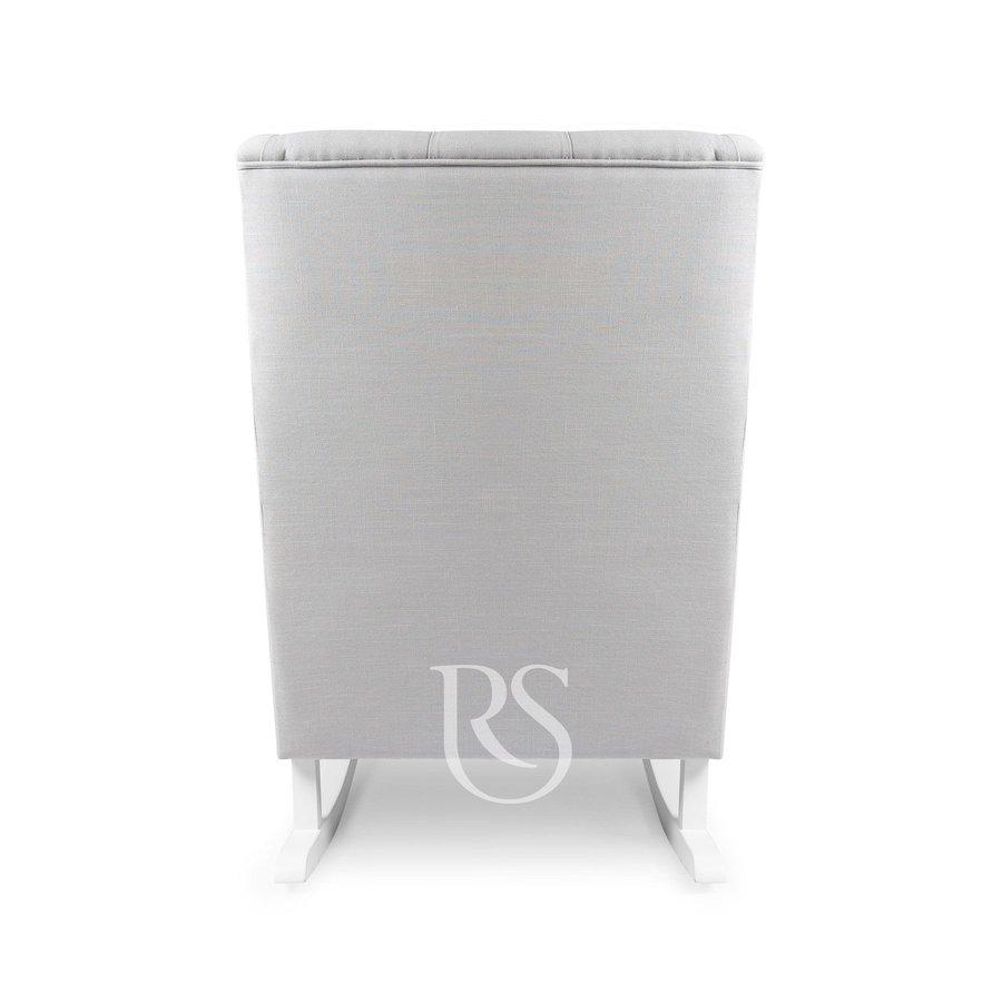 schommelstoel Bliss Rocker - Silver Grey / White-3