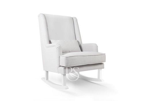 Rocking Seats schommelstoel Bliss Rocker - Silver Grey / White