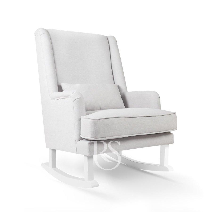 schommelstoel Bliss Rocker - Silver Grey / White-1