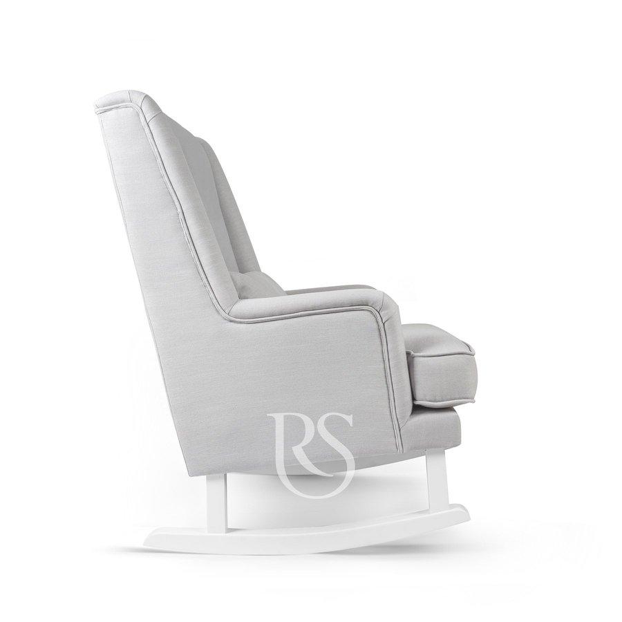 schommelstoel Bliss Rocker - Silver Grey / White-4