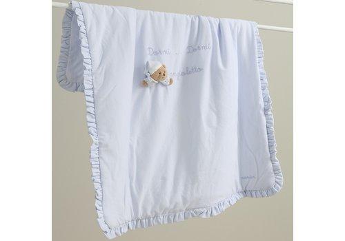 Nanan deken wieg / kinderwagen puccio  - blauw