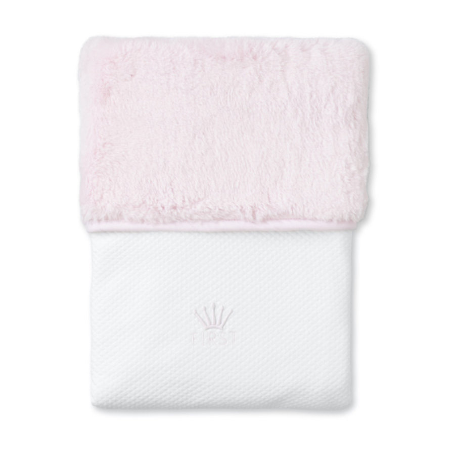deken teddy voor ledikant - Pretty Pink-1