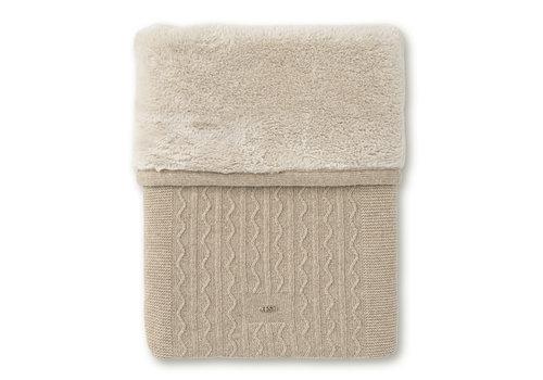First - My First Collection deken met cashmere en teddy - Ethnic White