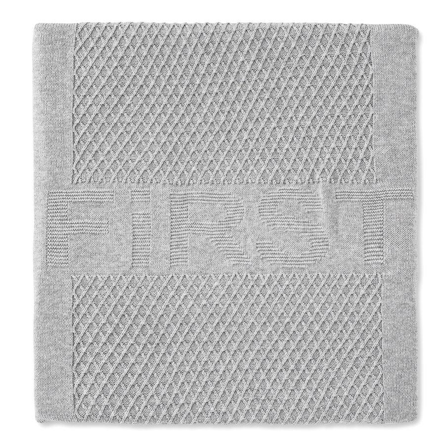 gebreid deken voor ledikant - Moonlight Grey-1