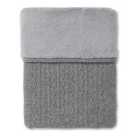 thumb-gebreid deken met cashmere en wol - Endless Grey-1