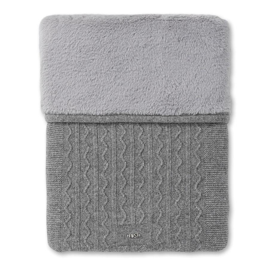 gebreid deken met cashmere en wol - Endless Grey-1