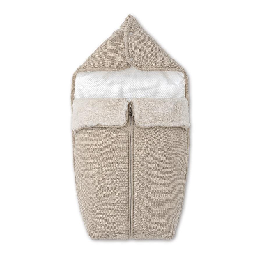 wol & cashmere babynestje voor wieg - Ethnic White-1