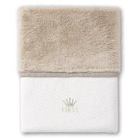 deken met teddy voor ledikant - Ethnic White