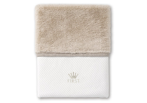 First - My First Collection deken met teddy voor ledikant - Ethnic White
