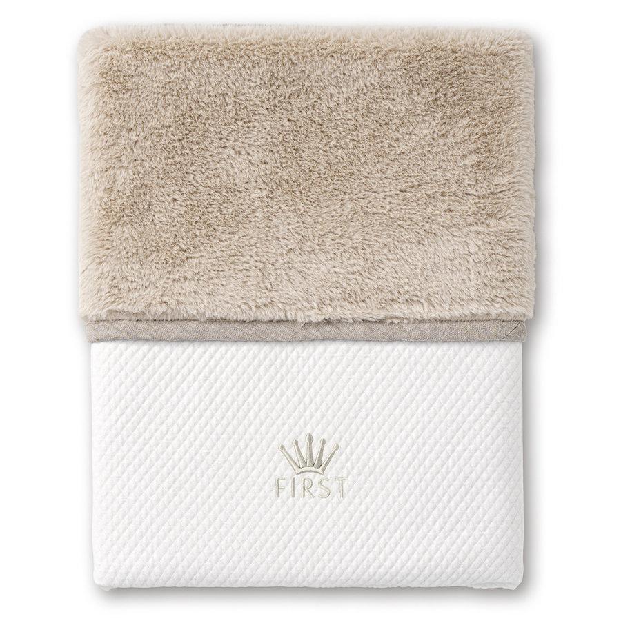deken met teddy voor ledikant - Ethnic White-1