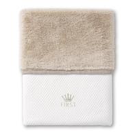 deken met teddy voor wieg - Ethnic White