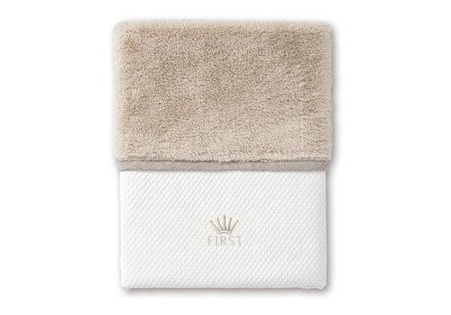 First - My First Collection deken met teddy voor wieg - Ethnic White