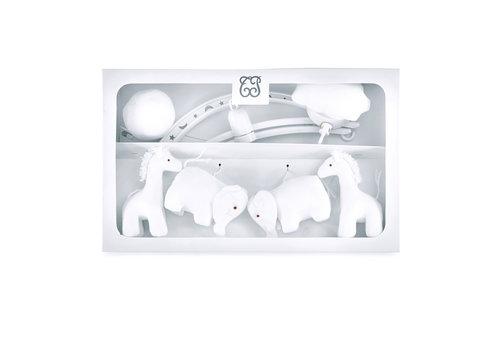 "Théophile & Patachou Sand Muziekmobiel ""olifanten en giraffen"""
