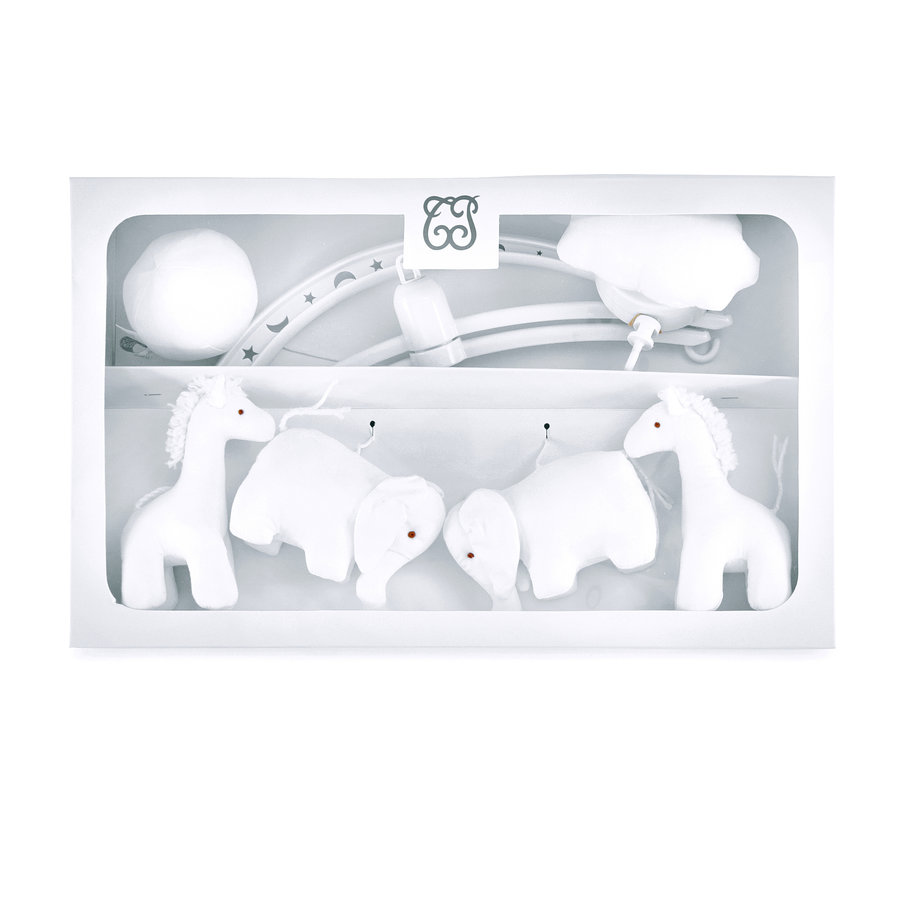 "Sand Muziekmobiel ""olifanten en giraffen""-1"