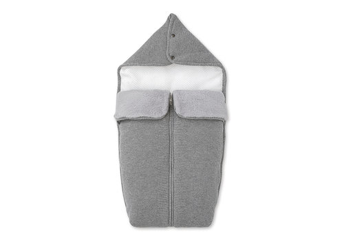 First - My First Collection wol & cashmere babynestje voor wieg - Endless Grey