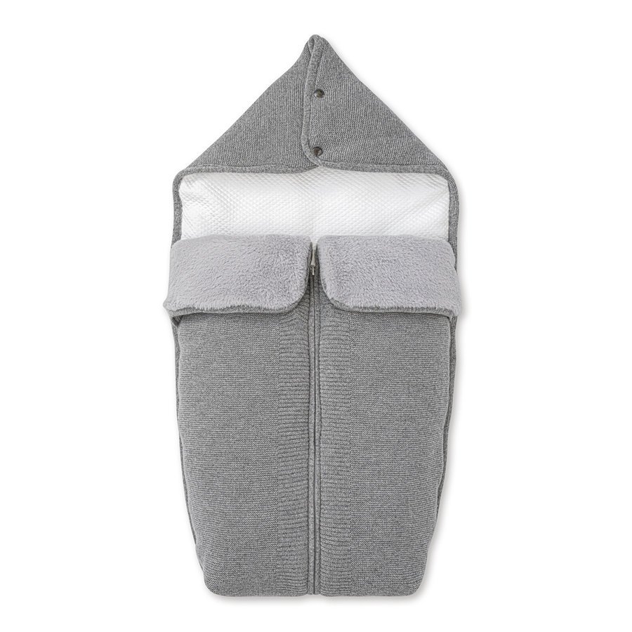 wol & cashmere babynestje voor wieg - Endless Grey-1