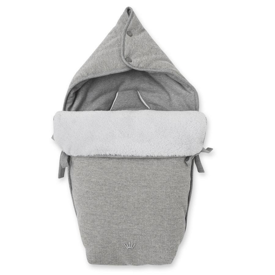 voetenzak autostoel flanel - Endless Grey-1