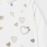 thumb-t-shirt met glitters - offwhite-2