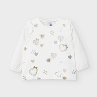 thumb-t-shirt met glitters - offwhite-1