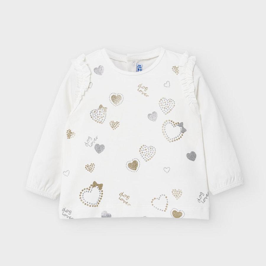 t-shirt met glitters - offwhite-1