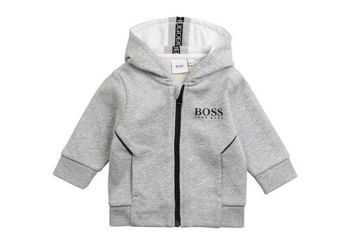 Hugo Boss vest jogging met capuchon - grijs