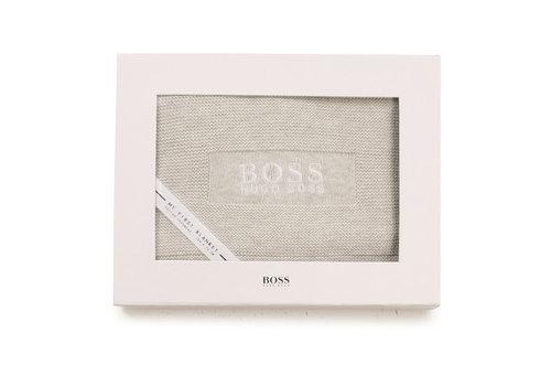 Hugo Boss omslag deken boss - grijs