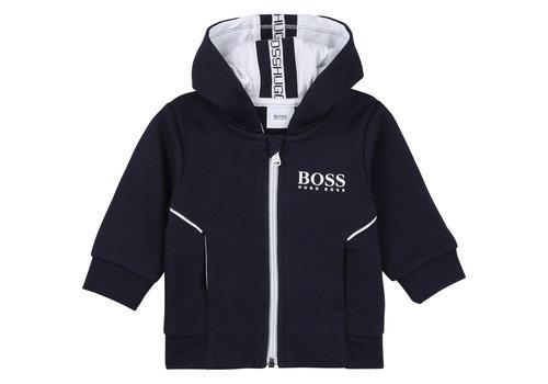Hugo Boss vest jogging met capuchon - blauw