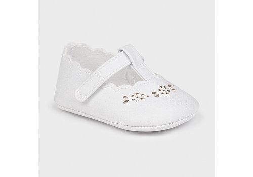 Mayoral klassiek babyschoentje glittertje - wit