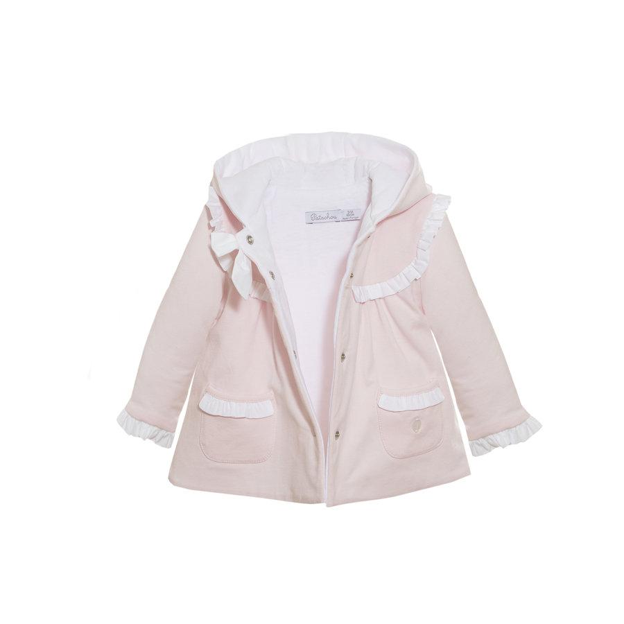 katoenen babyjasje met strik - roze-3