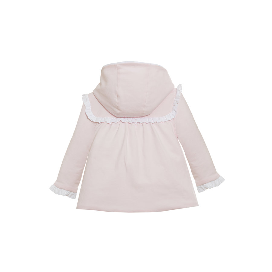 katoenen babyjasje met strik - roze-4