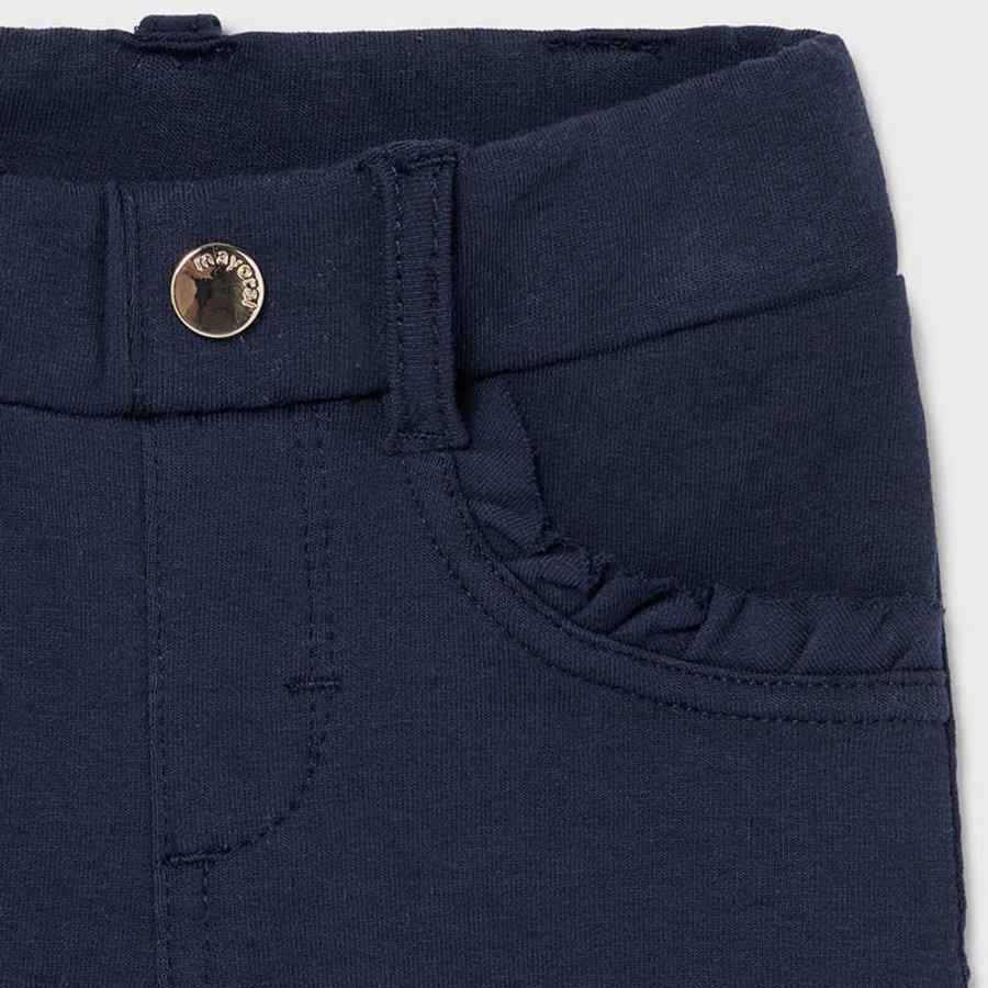 stretch broekje met ruches - blauw-3
