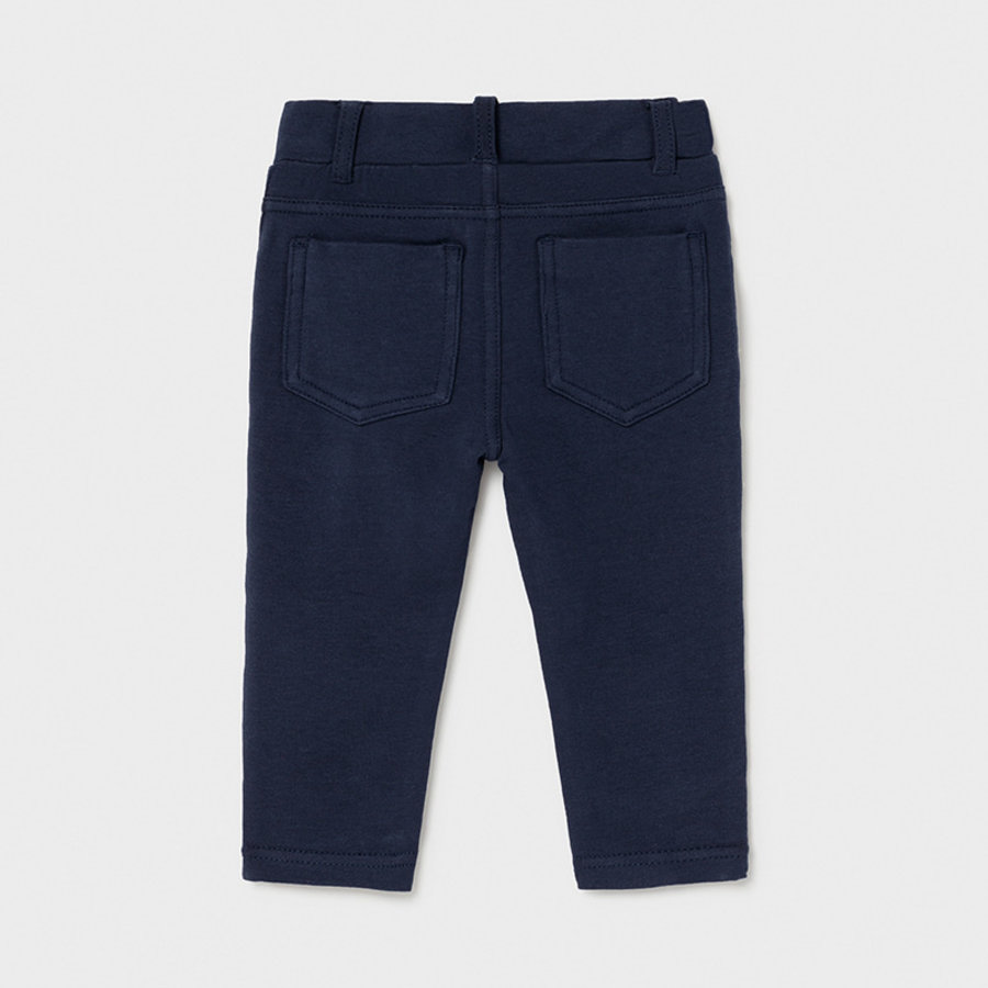 stretch broekje met ruches - blauw-2