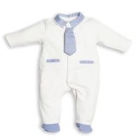 boxpak met stropdas - wit/blauw