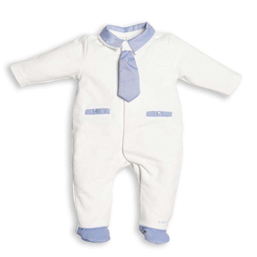 boxpak met stropdas - wit/blauw-1