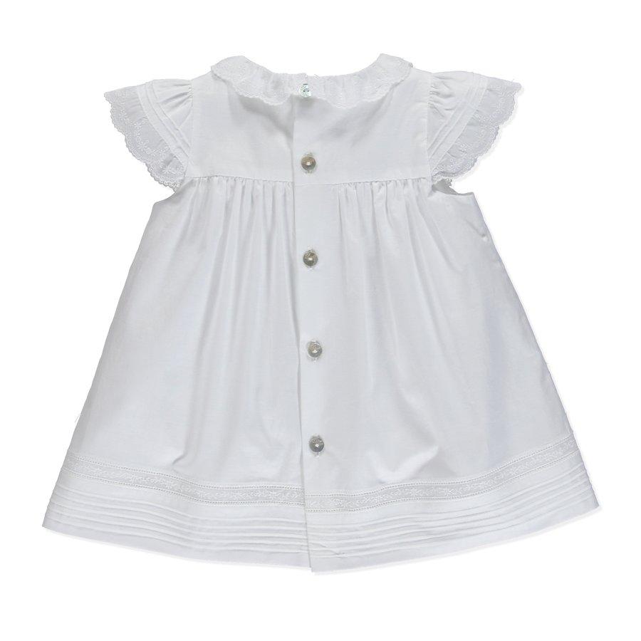 jurkje met broekje katoen met borduur - wit-2