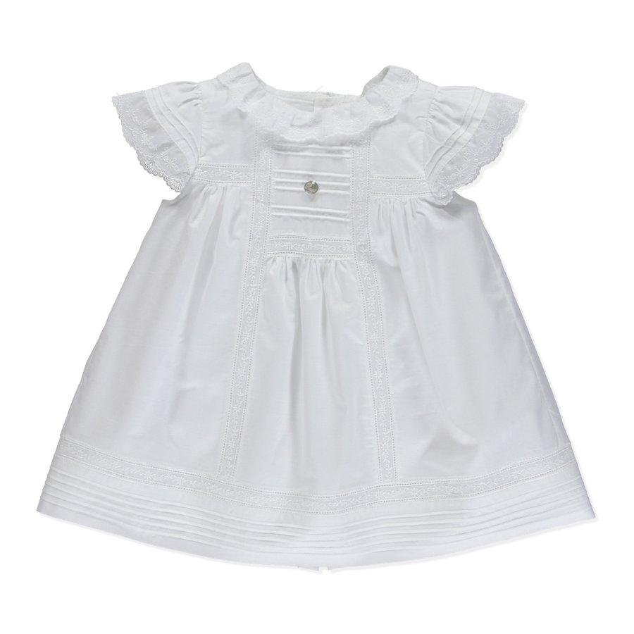 jurkje met broekje katoen met borduur - wit-1