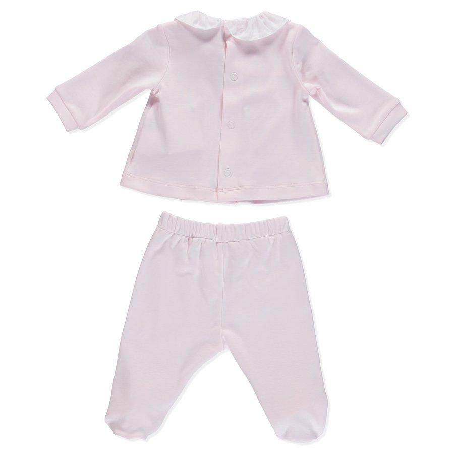 broek en top katoen met strikje - roze-2