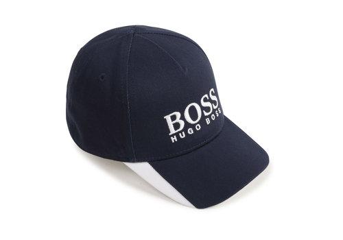 Hugo Boss pet met logo boss - blauw