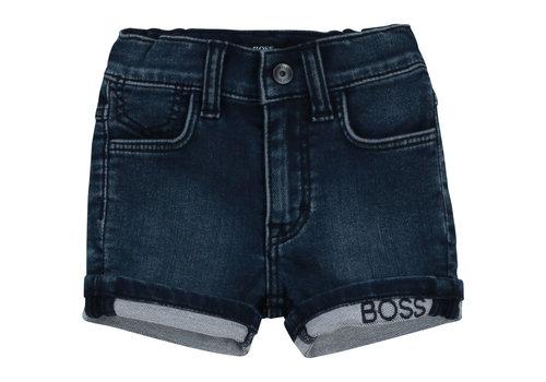 Hugo Boss kort broekje stretch - blauw