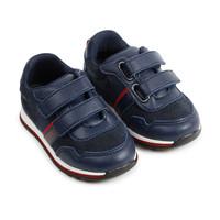 thumb-sneaker leer/suede boss - blauw-3