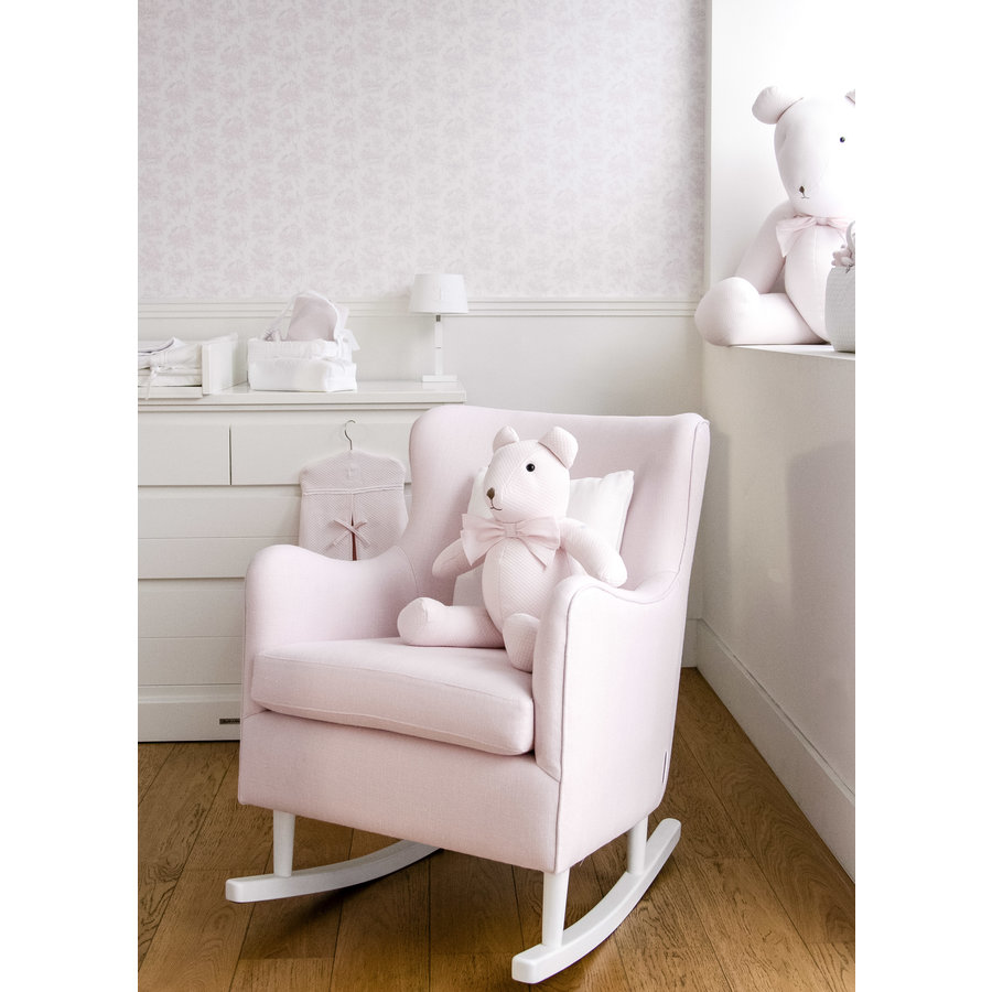 Rocking Chair Linnen - Roze-4