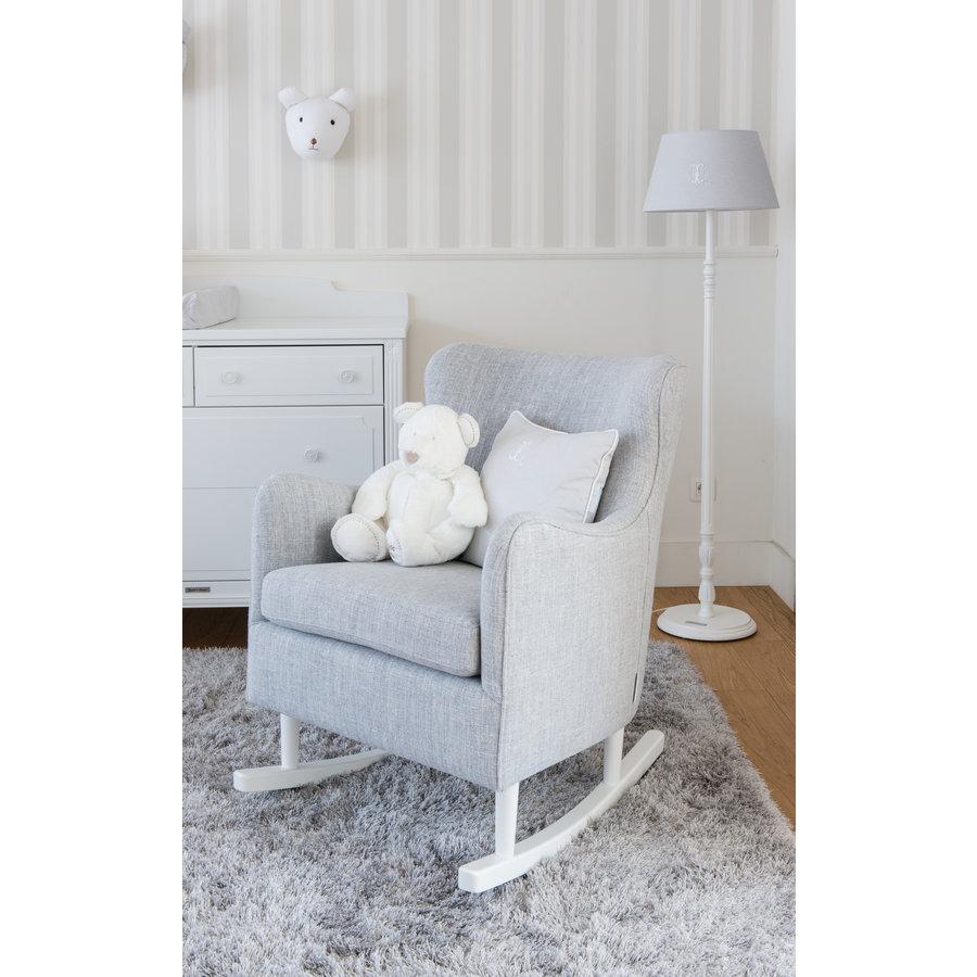 Rocking Chair Linnen - Grijs-4