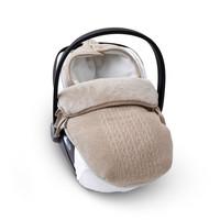 thumb-wol & cashmere voetenzak autostoel - Ethnic White-2