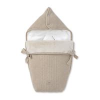 thumb-wol & cashmere voetenzak autostoel - Ethnic White-1