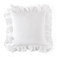 thumb-Cotton White kussen volant + borduurwerk - popeline-1