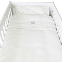 thumb-Safari donsovertrek bed 100x135cm  + sloop - wit linnen-1